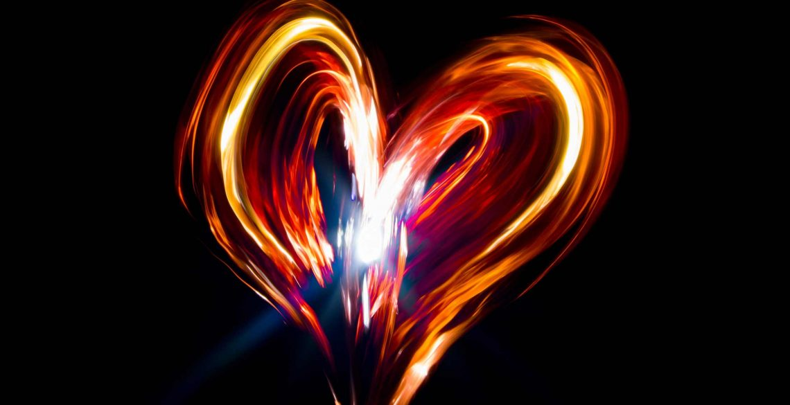Light Painting Heart Shape