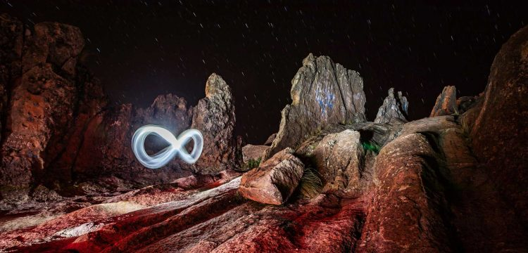 Light Painting Landscape