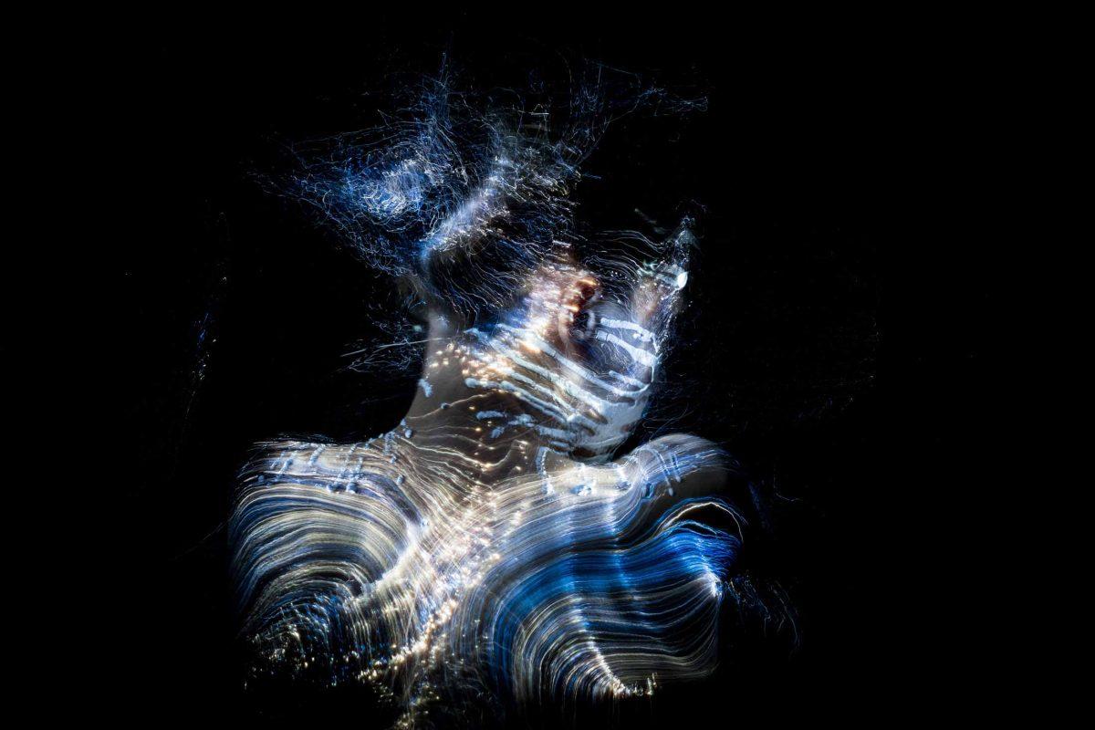 Fiber Optic Light Painting Portrait