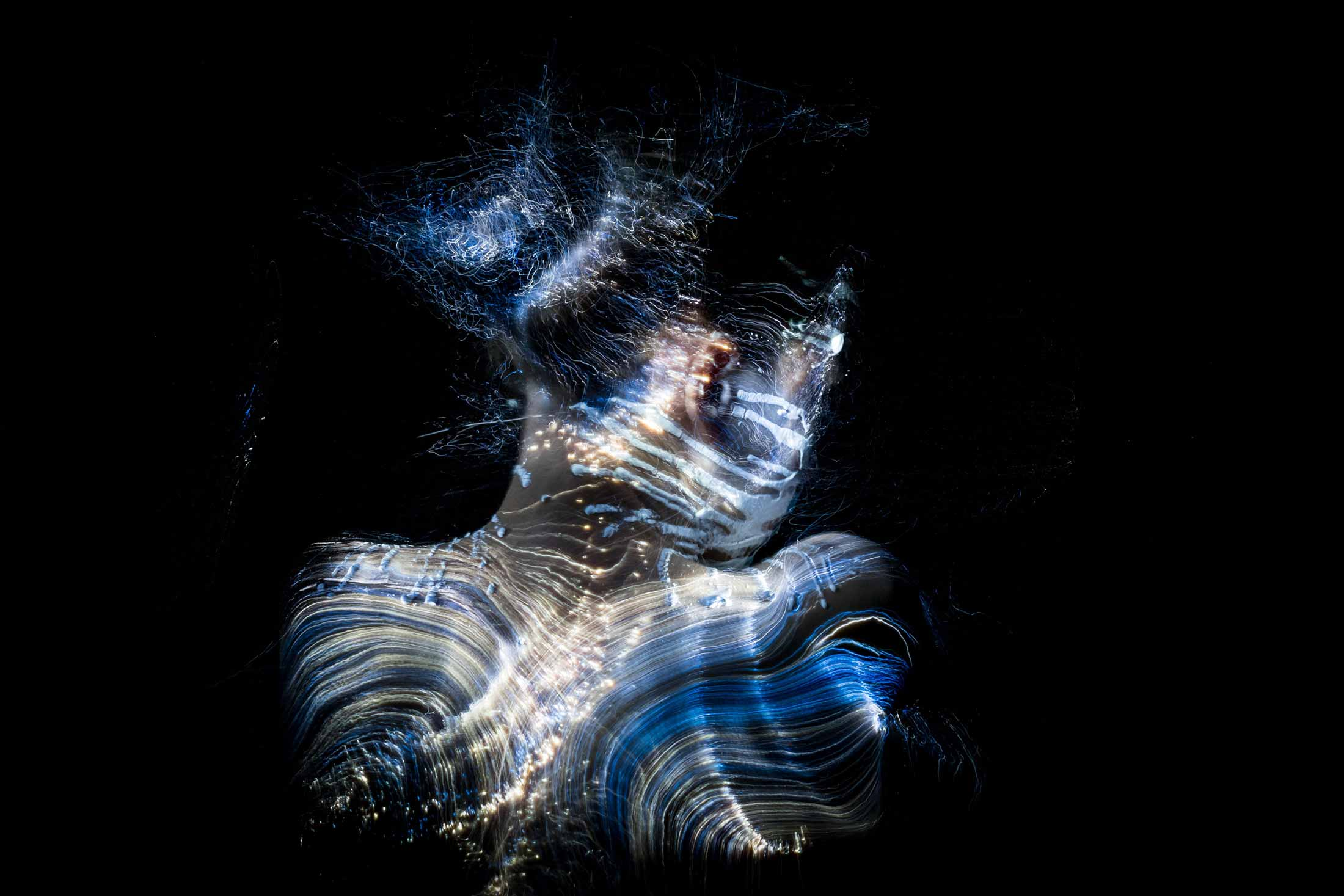 Fiber Optic Light Painting Portrait
