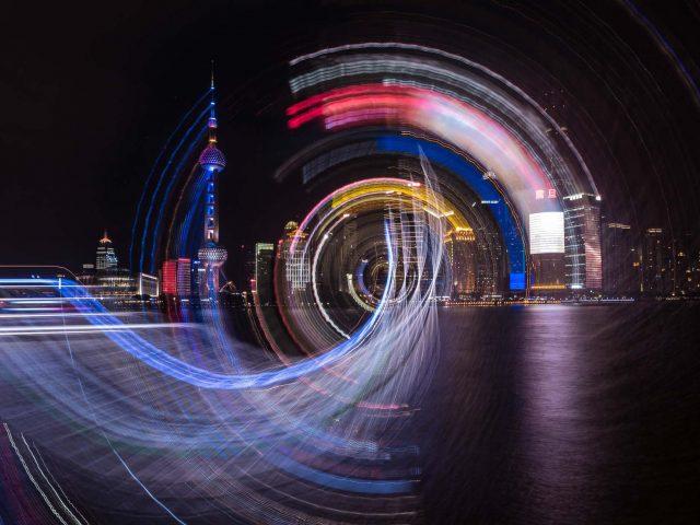 Shanghai at Night - Camera Rotation