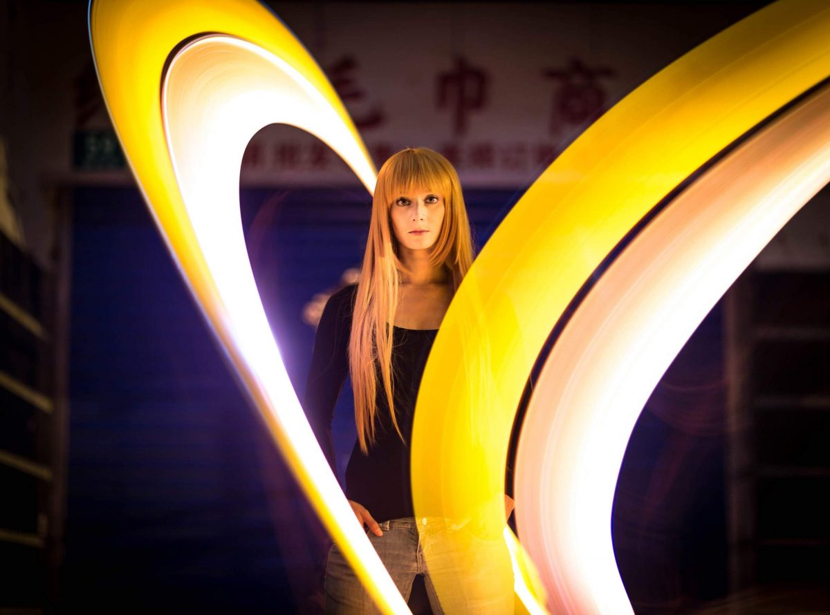 Tube Light Painting Portrait