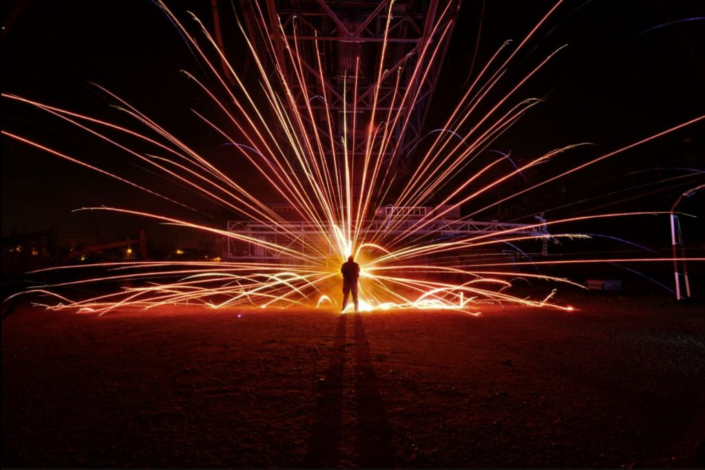 Light Painting fireworks