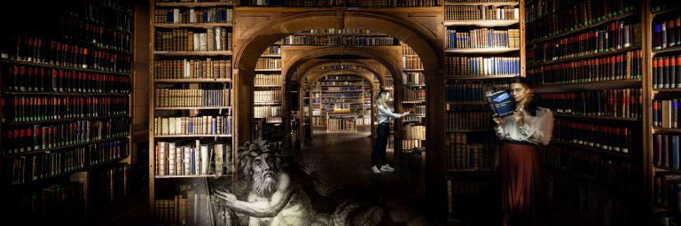 Light Painting at library