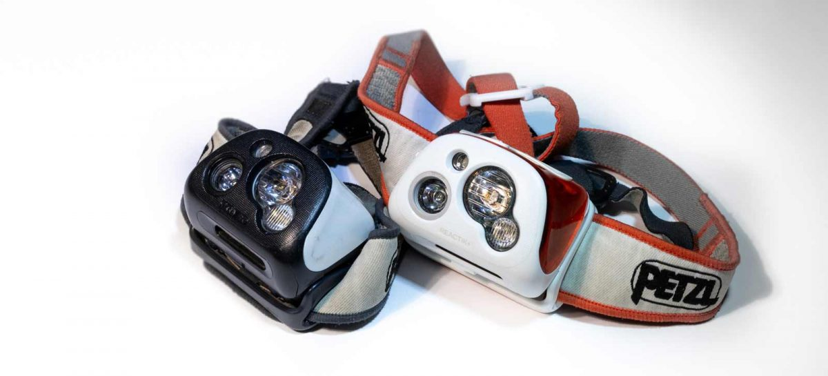two Petzl Head Lamps