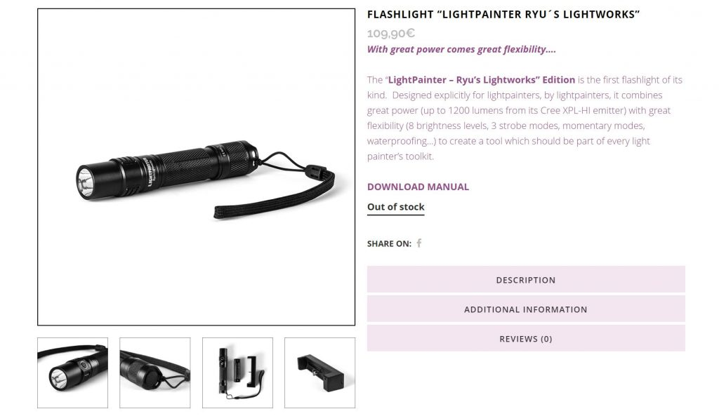 Flashlights for Light Painting