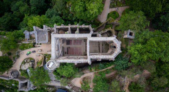 Drone Image Monastery Oybin