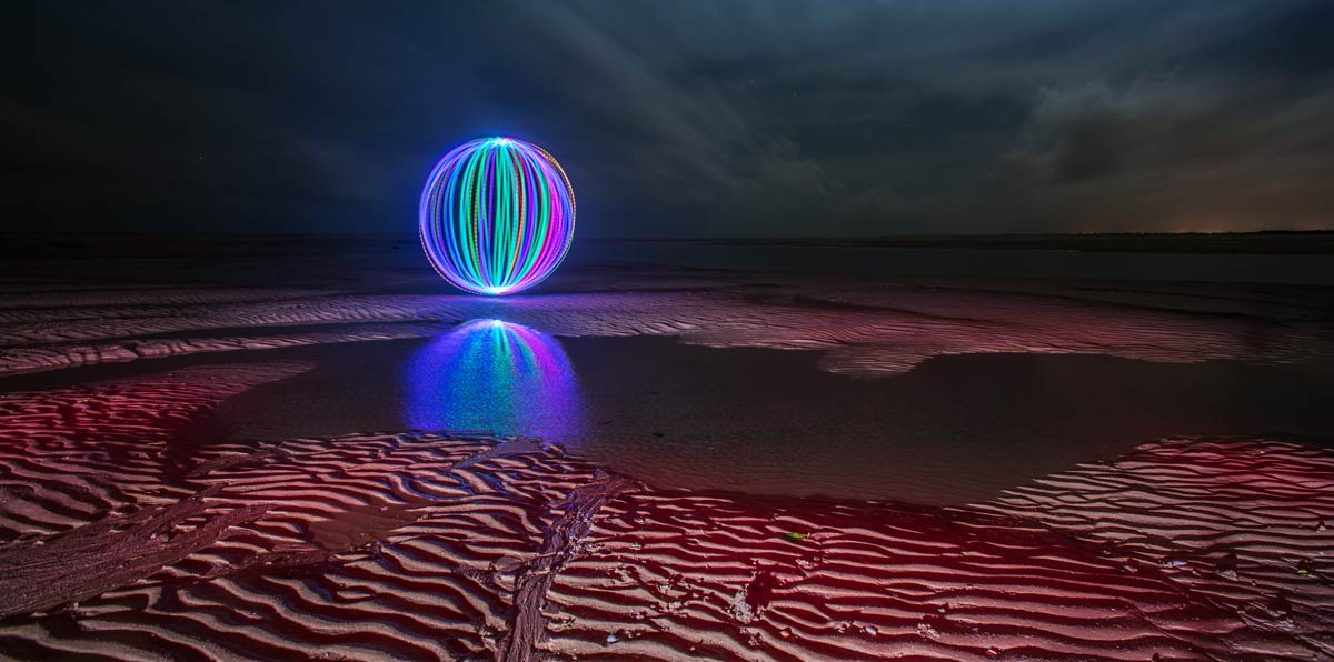 Dramatic Texture Light Painting