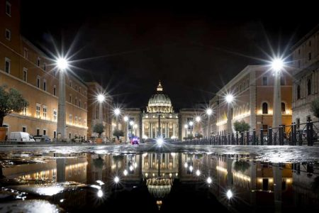 puddle reflection vatican gunnar heilmann