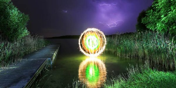 reflection light painting orb