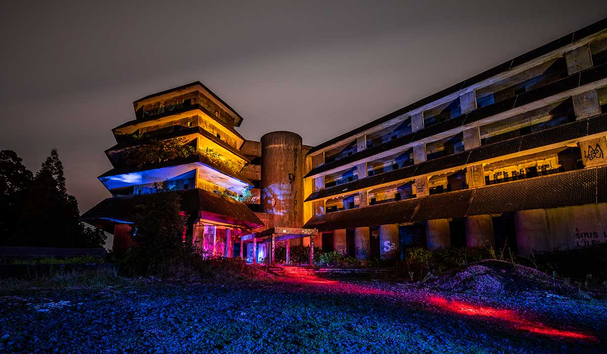 Hotel Monte Palace Light Painting