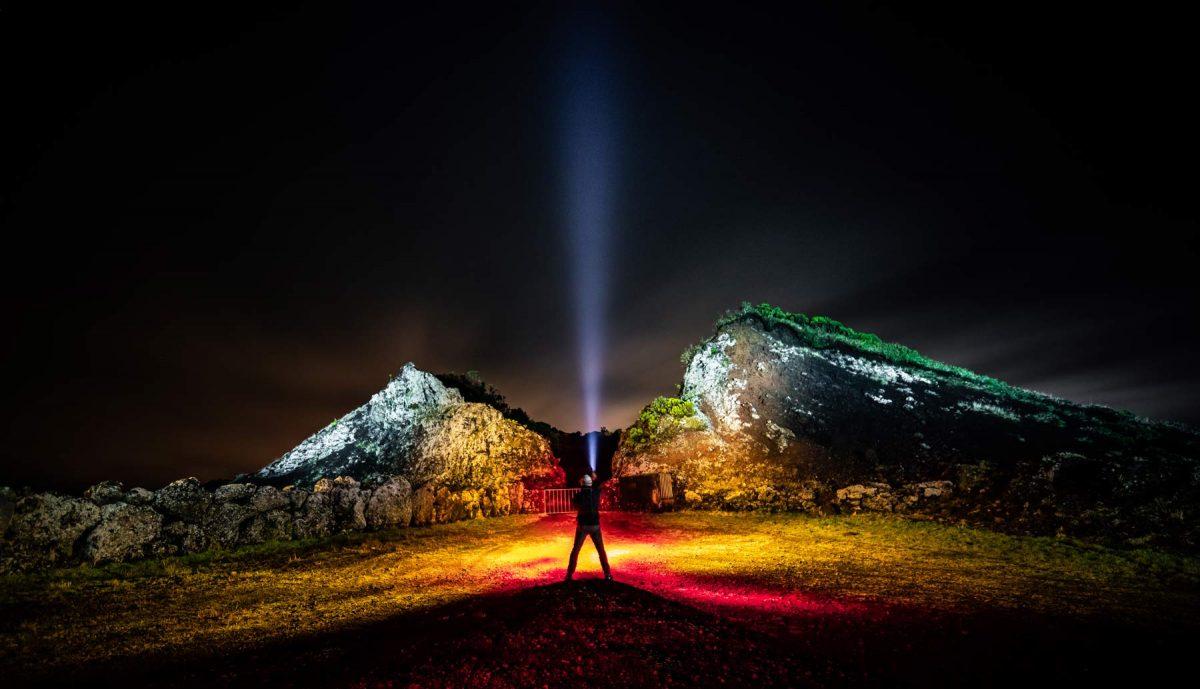 Volcano Light Painting