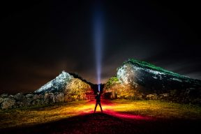 Volcano Light Painting
