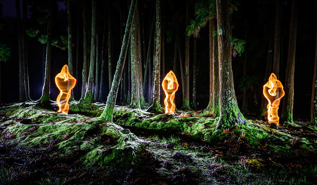Light Painting Azores Ghosts