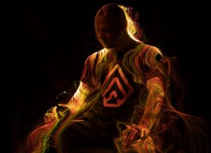 Fiber Optic Light Painting Portrait Gunnar Heilmann