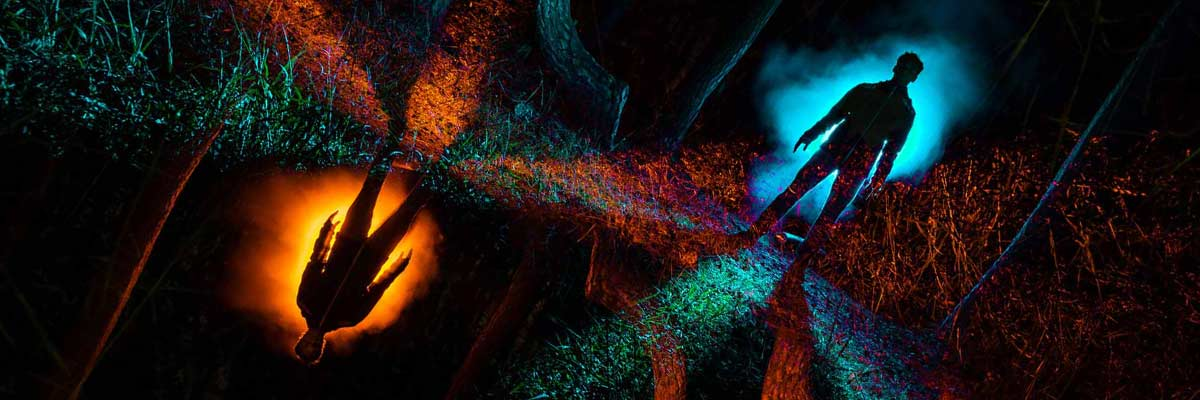 Camera Rotation Light Painting