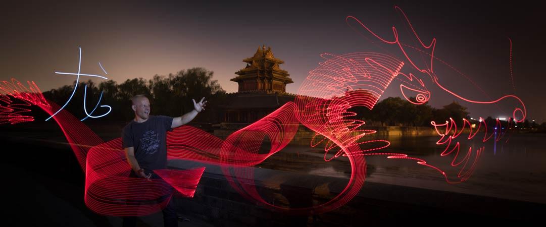 Light Painting Forbidden city Beijing