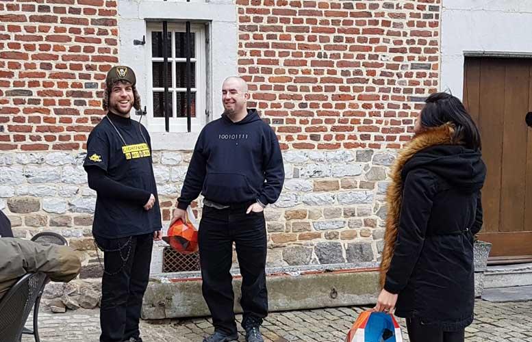 Light Painters Frodo anf Dan in Belgium