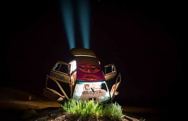 Light Painting with cars