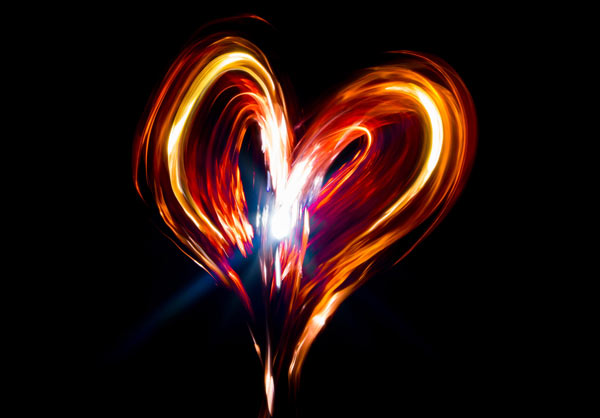 Hearts Light Painting